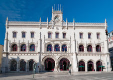 Rossio Railway Station in Lisbon Royalty Free Stock Photography