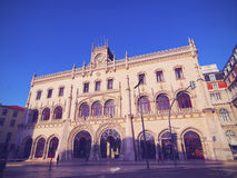 Rossio Railway Station in Lisbon Stock Images