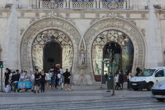 Rossio railway Station main entrance Stock Photo