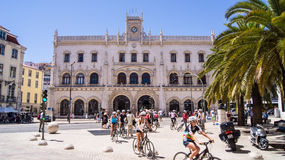 Rossio Railway Station, Lisbon Royalty Free Stock Image