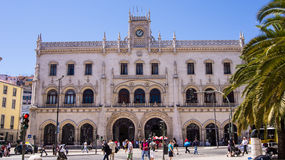 Rossio Railway Station, Lisbon Royalty Free Stock Photos