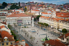 Rossio square aerial view Royalty Free Stock Photo