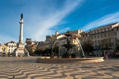 Rossio square Stock Image