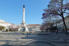 Rossio Square Royalty Free Stock Photos