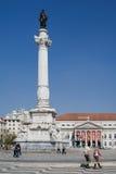 Rossio Square Dona Maria II Theatre Lisbon Stock Images