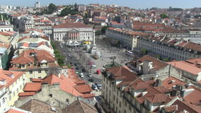 Rossio Square in downtown Lisbon, Portugal. View of iconic Rossio Square in downtown Lisbon, Portugal stock video