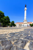 Rossio square focus Royalty Free Stock Photo