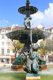 Rossio Square fountain Royalty Free Stock Photos