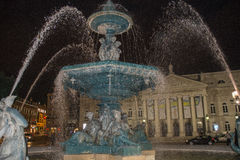 Rossio Square Fountain Stock Image