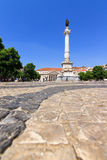 Rossio square Lisbon Royalty Free Stock Photos