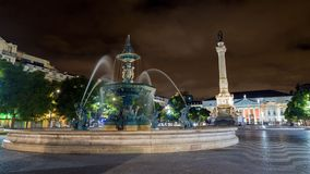 Rossio Square in Lisbon Stock Photos