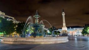 Rossio Square in Lisbon Stock Photos