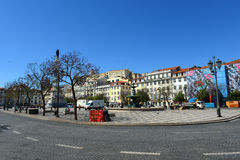 Rossio Square, Lisbon, Portugal Royalty Free Stock Image