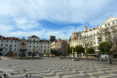 Rossio Square, Lisbon, Portugal Royalty Free Stock Photo