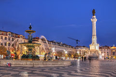 Rossio Square, Lisbon, Portugal Royalty Free Stock Images