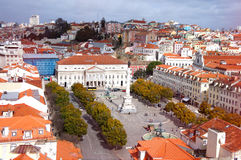Rossio Square of Lisbon Royalty Free Stock Photo