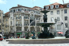 Rossio square in Lisbon Royalty Free Stock Photography