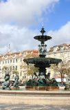 Rossio Square, Lisbon, Portugal Stock Images