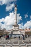 Rossio Square in Lisbon, Portugal Stock Photos