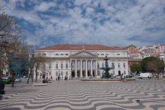 Rossio Square, Lisbon, Portugal Stock Image