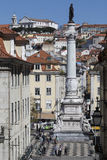 Rossio Square - Lisbon - Portugal Stock Images
