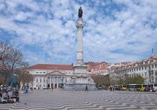 Rossio Square, Lisbon, Portugal Stock Photography