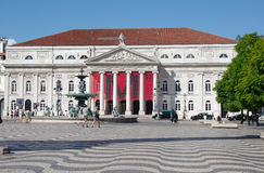 Rossio Square in Lisbon Royalty Free Stock Photos
