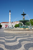 Rossio Square in Lisbon Stock Photography