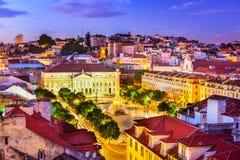 Rossio Square of Lisbon Stock Image