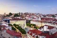 Rossio Square of Lisbon Royalty Free Stock Photography