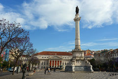 Rossio Square, Lisbon, Portugal Royalty Free Stock Photography