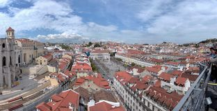 Rossio Square, Lisbon, Portugal. View of Rossio Square in Lisbon, Portugal Stock Photos