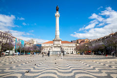 Rossio square Lisbon Royalty Free Stock Image