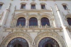 Rossio Staion Lissabon Arkivbild