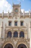 Rossio Staion Lissabon Royaltyfri Fotografi