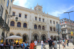 Rossio Station in Lisbon Stock Photography