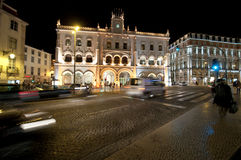 Rossio station, Lissabon Fotografering för Bildbyråer