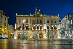 Rossio station - Lissabon, Portugal royaltyfria bilder
