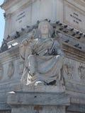 Rossio Statue Stock Image