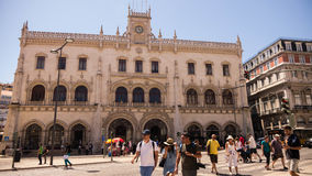 Rossio Train Station Royalty Free Stock Images