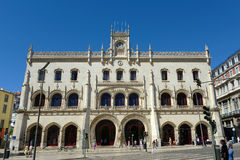 Rossio Train Station, Lisbon, Portugal Stock Image