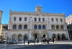 Rossio train station, Lisbon, Portugal Stock Images