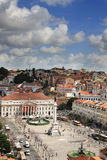 Rossiovierkant in oud Lissabon van de binnenstad Royalty-vrije Stock Foto's