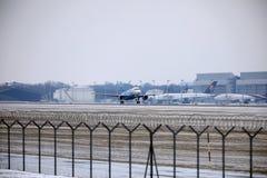 Rossiya - ρωσικό airbus A319-111 vq-BAS αερογραμμών Στοκ εικόνες με δικαίωμα ελεύθερης χρήσης
