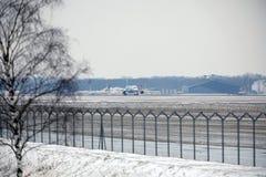 Rossiya - русский аэробус A319-111 VQ-BAS авиакомпаний Стоковые Фото