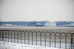 Rossiya - русский аэробус A319-111 VQ-BAS авиакомпаний Стоковые Изображения RF
