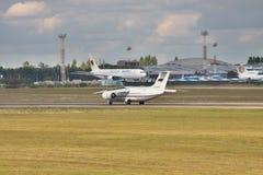 Rossiya - linee aeree russe An-148 Immagini Stock Libere da Diritti