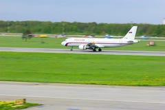 Rossiya linii lotniczych Aerobus A320-214 samolot w Pulkovo lotnisku międzynarodowym w Petersburg, Rosja Obraz Royalty Free