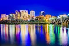 Rosslyn, Arlington, Virginia, USA. City skyline on the Potomac River Royalty Free Stock Photo