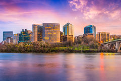 Rosslyn Arlington, Virginia, USA horisont Royaltyfri Bild